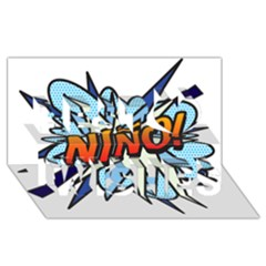 Comic Book Nino! Best Wish 3d Greeting Card (8x4)