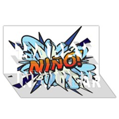 Comic Book Nino! Happy New Year 3D Greeting Card (8x4)