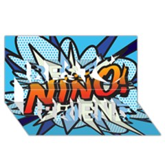 Comic Book Nino! Best Friends 3D Greeting Card (8x4)
