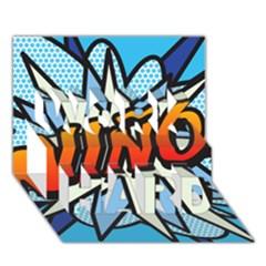 Comic Book Nino! Work Hard 3d Greeting Card (7x5)