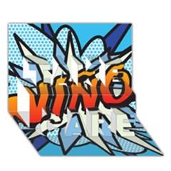 Comic Book Nino! TAKE CARE 3D Greeting Card (7x5)