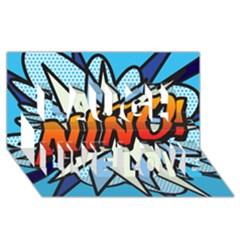 Comic Book Nino! Laugh Live Love 3D Greeting Card (8x4)