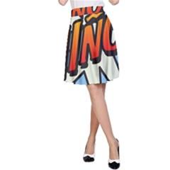 Comic Book Nino! A-Line Skirts
