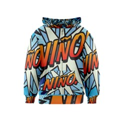 Comic Book Nino! Kids Zipper Hoodies
