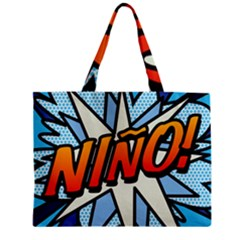 Comic Book Nino! Zipper Tiny Tote Bags