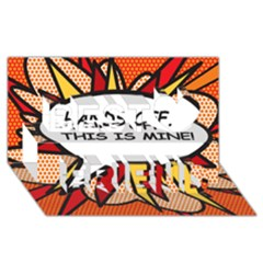 Hands Off  This Is Mine! Best Friends 3d Greeting Card (8x4)