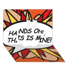Hands Off. This is mine! Apple 3D Greeting Card (7x5)