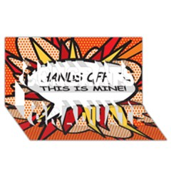Hands Off. This is mine! Congrats Graduate 3D Greeting Card (8x4)