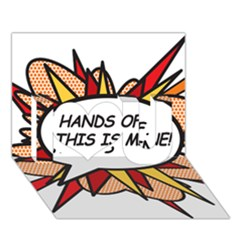 Hands Off I Love You 3D Greeting Card (7x5)