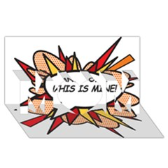 Hands Off MOM 3D Greeting Card (8x4)