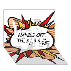 Hands Off LOVE 3D Greeting Card (7x5)