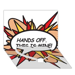 Hands Off Heart Bottom 3D Greeting Card (7x5)