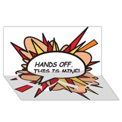Hands Off Twin Heart Bottom 3d Greeting Card (8x4)