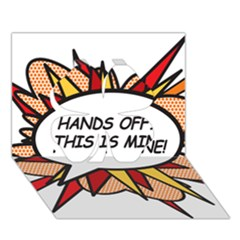 Hands Off Clover 3d Greeting Card (7x5)