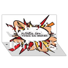 Hands Off Best Wish 3D Greeting Card (8x4)