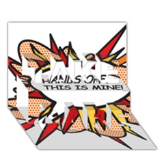 Hands Off TAKE CARE 3D Greeting Card (7x5)
