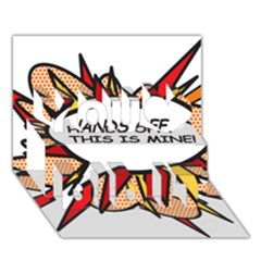 Hands Off You Did It 3D Greeting Card (7x5)