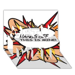 Hands Off Get Well 3D Greeting Card (7x5)