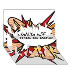 Hands Off You Rock 3D Greeting Card (7x5)