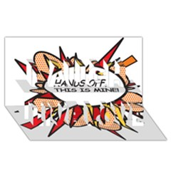 Hands Off Laugh Live Love 3d Greeting Card (8x4)