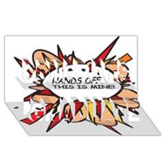 Hands Off Congrats Graduate 3d Greeting Card (8x4)