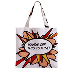 Hands Off Zipper Grocery Tote Bags
