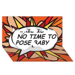 Comic Book This Is No Time To Pose Baby Twin Hearts 3D Greeting Card (8x4)