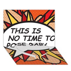 Comic Book This Is No Time To Pose Baby Heart Bottom 3D Greeting Card (7x5)