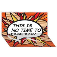 Comic Book This Is No Time To Pose Baby Twin Heart Bottom 3D Greeting Card (8x4)