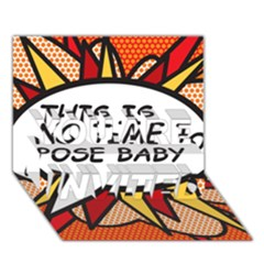 Comic Book This Is No Time To Pose Baby You Are Invited 3d Greeting Card (7x5)