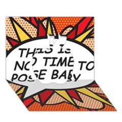 Comic Book This Is No Time To Pose Baby Apple 3D Greeting Card (7x5)