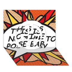 Comic Book This Is No Time To Pose Baby Peace Sign 3d Greeting Card (7x5)