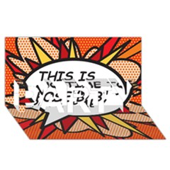 Comic Book This Is No Time To Pose Baby Party 3d Greeting Card (8x4)