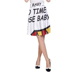 Comic Book This Is No Time To Pose Baby A-Line Skirts