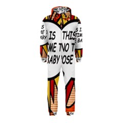 Comic Book This Is No Time To Pose Baby Hooded Jumpsuit (Kids)