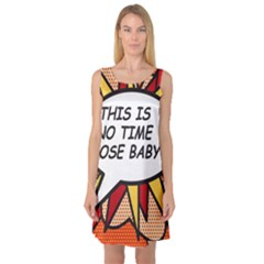 Comic Book This Is No Time To Pose Baby Sleeveless Satin Nightdresses