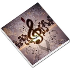 Music, Wonderful Clef With Floral Elements Small Memo Pads