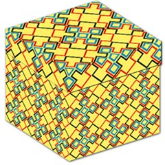 Shapes On A Yellow Background Storage Stool