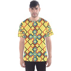Shapes on a yellow background Men s Sport Mesh Tee