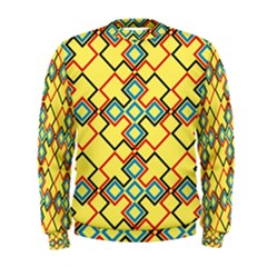 Shapes on a yellow background  Men s Sweatshirt