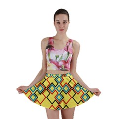 Shapes on a yellow background Mini Skirt