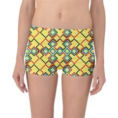 Shapes on a yellow background Boyleg Bikini Bottoms