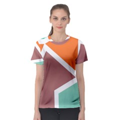 Misc Shapes In Retro Colors Women s Sport Mesh Tee