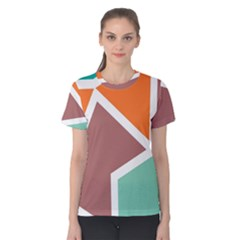 Misc shapes in retro colors Women s Cotton Tee