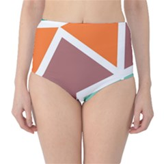 Misc shapes in retro colors High-Waist Bikini Bottoms