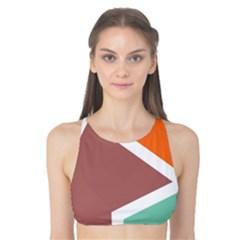 Misc Shapes In Retro Colors Tank Bikini Top