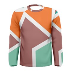 Misc shapes in retro colors Men Long Sleeve T-shirt