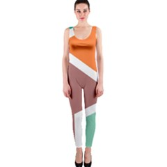 Misc Shapes In Retro Colors Onepiece Catsuit