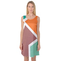 Misc Shapes In Retro Colors Sleeveless Satin Nightdress