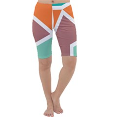 Misc shapes in retro colors Cropped Leggings